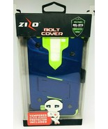 Zizo Bolt Cover For LG LS775 Blue and Green Trim With Tempered Glass Pro... - $6.79