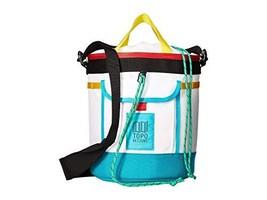 Topo Designs Chalk Bucket - White/Turquoise - $50.48