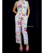 New Junction West Cropped PANTS White 100% cotton PANTS ONLY L 8 - $15.99