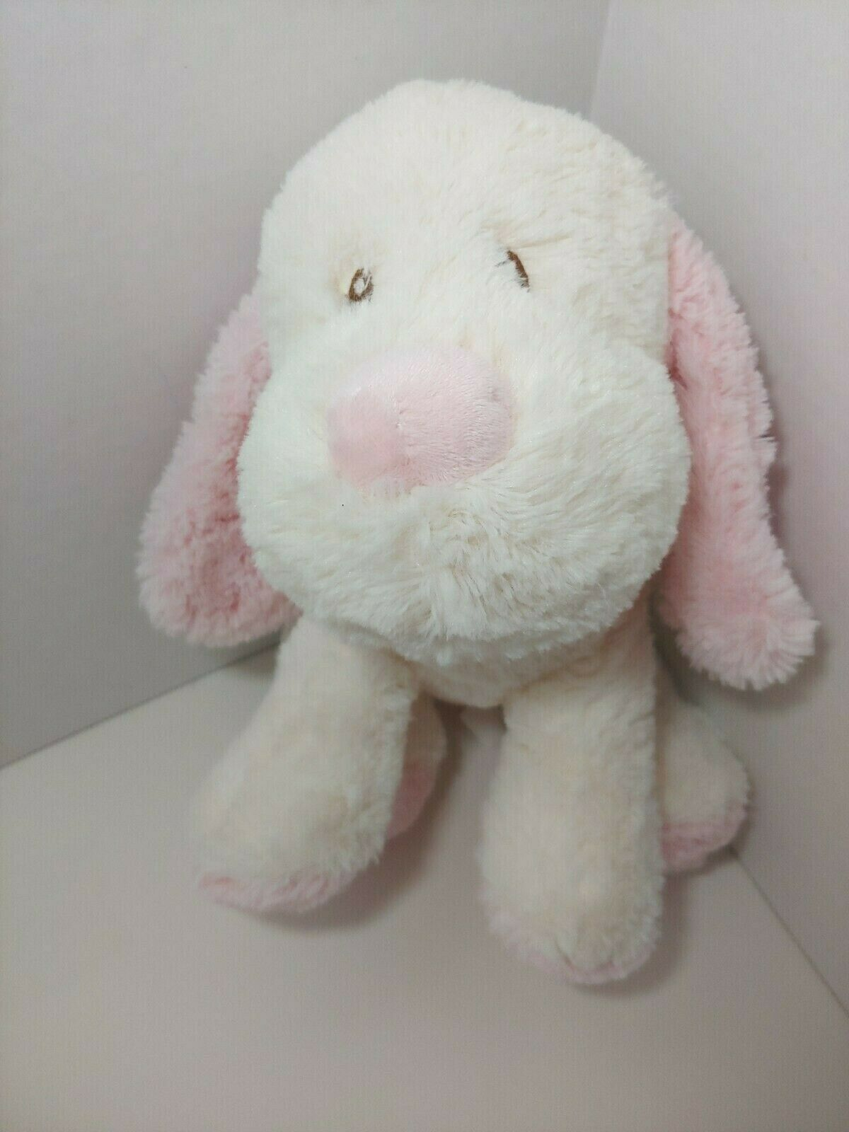 Primary image for Toys r us baby plush puppy dog cream off white pink soft stuffed animal 2015