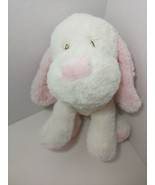 Toys r us baby plush puppy dog cream off white pink soft stuffed animal ... - $24.74