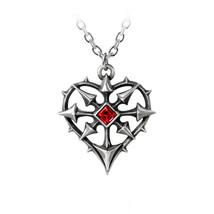 Alchemy of England Gothic Punk Entropassio Heart Swarovski Pendant Necklace P787 - $29.99