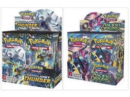 Pokemon TCG XY Ancient Origins + Sun & Moon Lost Thunder Booster Box Bundle - $209.99