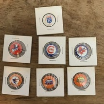 (7) Vintage MLB Baseball Pins Buttons Creative House Astros Red Sox Cubs... - $19.79