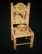 Vintage Heather Ramsay Parvenue Unique Wood Chair Clock Chile Design Kit... - $99.99