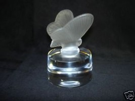 FRENCH CRYSTAL BUTTERFLY PAPERWEIGHT - $24.00