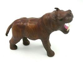 "Vintage Hand Made Leather African Animal Rhino Figurine 7"" - NEW - $99.00"