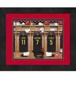 Personalized Atlanta Hawks 12 x 16 Locker Room Framed Print - $63.95