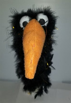"C2 * Deluxe Custom ""Sparkly Black Crow / Bird""  Sock Puppet * Custom Made - $10.00"