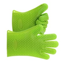 BBQ Gloves Heat Resistant Silicone Mitts For outdoor Barbecue and Kitche... - $14.99