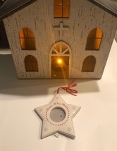 Ceramic Christmas Picture Frame Ornament Star Snowflake Friend True Bles... - $10.00