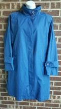 London Fog Vintage All Weather Rain Coat-Blue-Lined-Marked Size 10-Fits ... - $24.19
