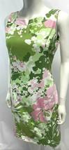 Talbots Sheath Dress Spring Summer Floral 100% Cotton Lined Sleeveless M... - $49.47