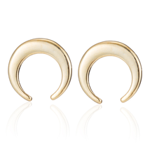5 pairs of  Moon  Golden Stud Earring Stud (NED232A) - $12.50