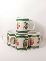 Set of Four 4 Coffee Mugs Hallmark Teddy Bears Christmas Gourmet Gifts  - $10.66