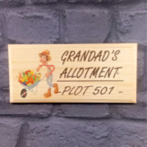 Personalised Allotment Sign, Grandad Gift Garden Plot Shed Dad Vegetable... - $12.24