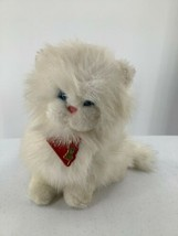 VINTAGE Dakin Fluffy Soft Plush White Persian Kitten Stuffed Toy Cat 1983 - $12.19