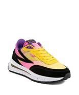 Neuf Femmes Fila Renno Athlétique Chaussure Noir Citron Canon Rose Multi... - $109.28