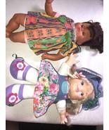 1997 DSI Toys Giggle Doll & 1998 Unimax Rooted Lash Doll Furga Like Face... - $49.49