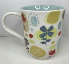 Starbucks Coffee Cup Handpainted 2009 Modern Flowers - $12.64