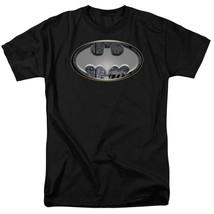 DC Comics Batman silver logo adult graphic t-shirt BM1754 image 1