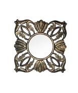 Decorative & Hand Carved Mirror / Panel in Antique Gold Finish. Size : 1... - $57.10