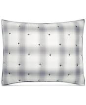 Martha Stewart Reversible Plaid Mist Quilted Cotton STANDARD Sham Gray Grey - $19.00