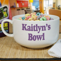 Personalized Ceramic Any Message Cereal or Ice Cream Bowl - $26.95