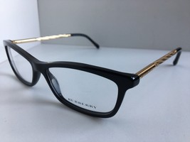New BURBERRY B 2190 3001 54mm Black Gold Cats Eye Rx Women's Eyeglasses ... - $84.99