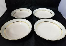 The French Saxon China Co Soup Salad Bowls Set of 4, 22kt Gold, Pottery Made USA image 11