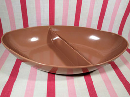 Wonderful 1950s Mar-Crest Cocoa Melmac Divided Vegetable Serving Dish Pi... - $10.00