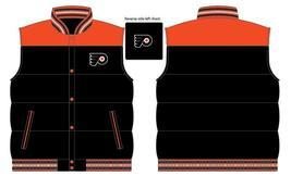 JH Design NHL Philadelphia Flyers Rversible Nylon Puffer Vest Jacket  - $74.95