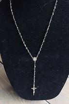 Gold Tone Iridescent Bead Rosary - $29.70
