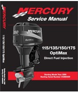 Mercury 115 - 135 - 150 - 175 OptiMax Outboard Motor Service Repair Manu... - $12.00