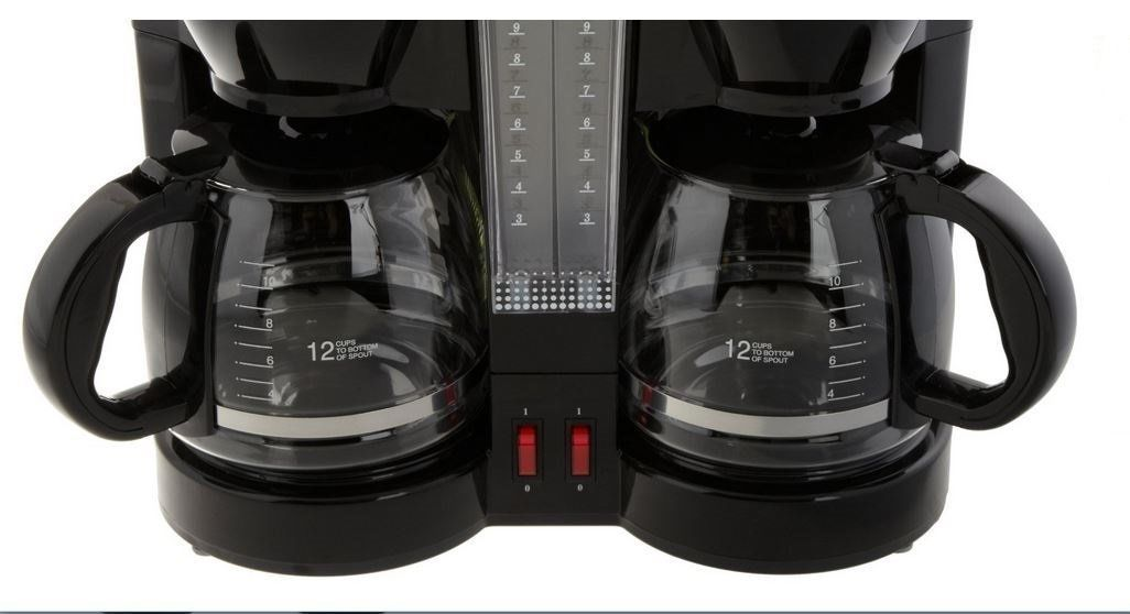 Coffee Maker Dual Brew : Double Coffee Brew Station Black Dual 12 cups 24 cup Pot New Maker CucinaPro - Coffee Makers ...