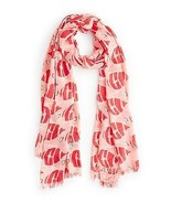NWT kate spade new york Striped fish scarf PSRU2012 Geranium 80x30 - $66.82