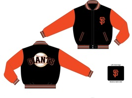 JH Design MLB San Francisco Giants Two Tone Wool Reversible Jacket  - $109.95