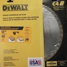 Dewalt DW7639 12' X 40 Ftg Glue Line Rip Saw Blade 20-Degree Rake Usa - $44.55