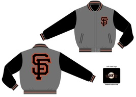 JH Design MLB San Francisco Giants Wool Reversible Jacket  - $109.95