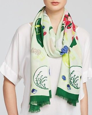 NWT kate spade new york ladybug picnic scarf PSRU2040 green multi 80x30