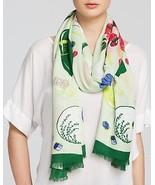 NWT kate spade new york ladybug picnic scarf PSRU2040 green multi 80x30 - $69.25