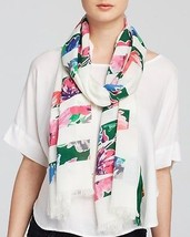 NWT kate spade new york in full bloom scarf PSRU2036 cream multi 80x25 m... - $66.79