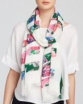 NWT kate spade new york in full bloom scarf PSRU2036 cream multi 80x25 m... - €60,91 EUR