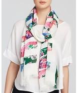 NWT kate spade new york in full bloom scarf PSRU2036 cream multi 80x25 m... - $66.79