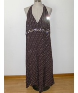 Torrid Brown Halter Top Dress Womens Sequined 2... - $21.97