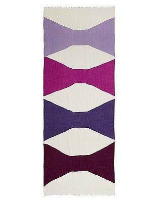 Primary image for NWT kate spade new york abstract bow scarf PSRU2025 foxglove 80x30 wool