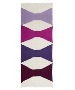 NWT kate spade new york abstract bow scarf PSRU2025 foxglove 80x30 wool - $74.21
