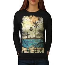 Palm Beach Holiday Tee Florida USA Women Long Sleeve T-shirt - $14.99