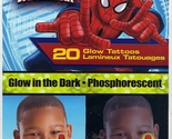 Marvel Glow In The Dark Spiderman Temporary Tattoo 20 CT Birthday Party Favor