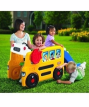 Little Tikes Activity Toddler School Bus Gym Slide Kids  Indoor Outdoor ... - $154.94